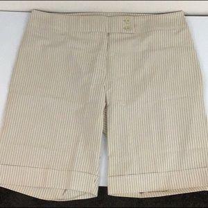 Ashley Stewart Tan Striped Shorts Size 22